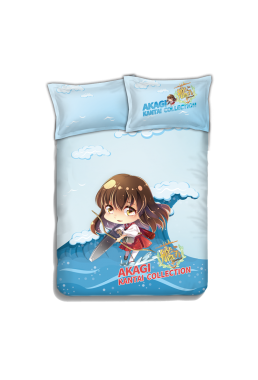Akagi - Kantai Collection Japanese Anime Bed Blanket Duvet Cover with Pillow Covers