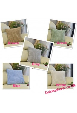 Conditional Free Gifts - Soft Velvet Corduroy Corn Striped Square Cushion Covers,45*45cm(18x18 inch)