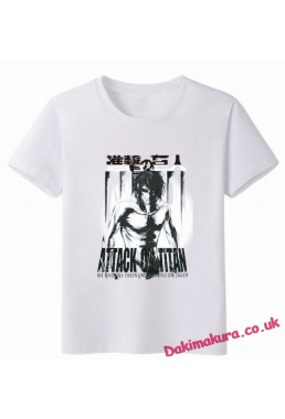 Attack on Titan White Men Anime T-shirts