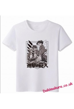 Attack on Titan White Men Anime Fashion T-shirts