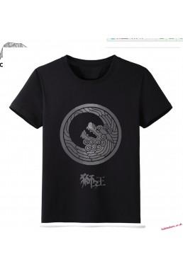Black - Touken Ranbu Online Men Anime Fashion T-shirts