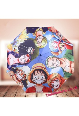 ONE PIECE Waterproof Anti-UV Never Fade Foldable Anime Umbrella