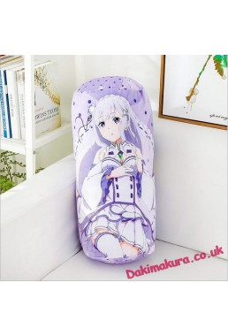 Emilia Re:Zero Natural Velvet Softness Comfortable Round Daki Pillow