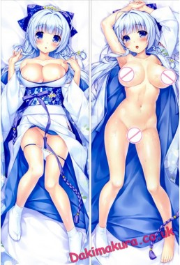 R18 galgame Boku to Suru Koi Ponkotsu Akuma anime characters Aoi Miyabi and Ayasaki Yuu Fujima pillow case body Armory of the Emir pillowcase