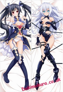 Hyperdimension Neptunia - Black Heart + Noire Hugging body anime cuddle pillowcovers