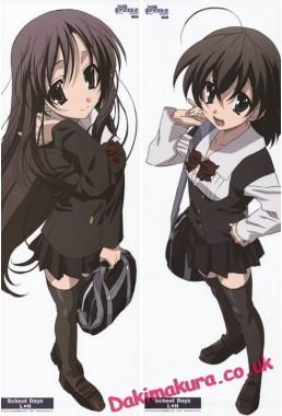 School Days - Kotonoha Katsura - Sekai Saionji Anime Dakimakura Pillow Cover