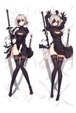 2B - Nier Automata Anime Dakimakura Japanese Hugging Body Pillow Cover