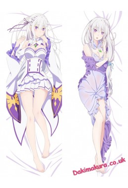 Emilia - Re Zero Anime Body Pillow Case japanese love pillows for sale