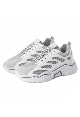 Best Sneakers Road Running Shoes White Grey CN D119