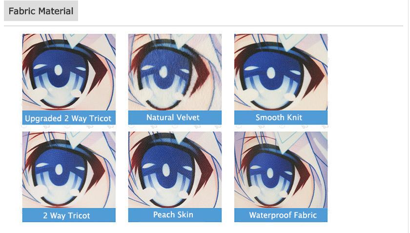Upgrade Anime Dakimakura Hugging body pillow case to 2 way material service